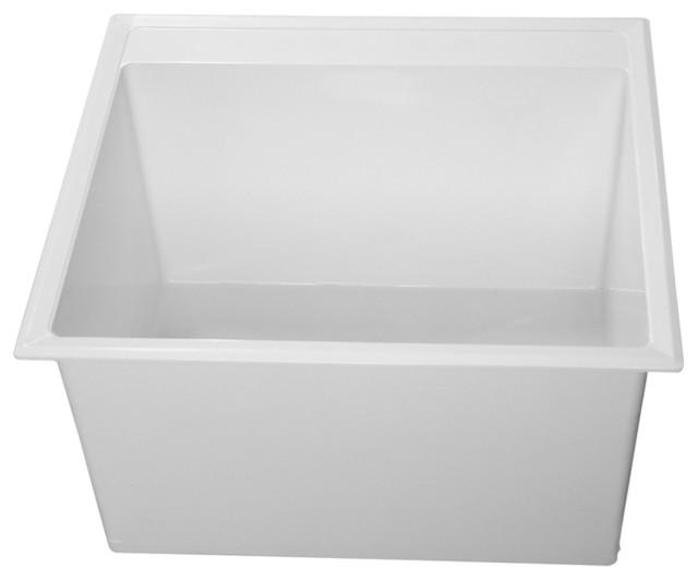 Laundry Basins : Fiat Molded Stone Laundry Tub - Modern - Utility Sinks - by ...