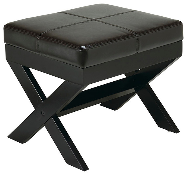 office metro x leg eco leather ottoman in traditional footstools and ottomans