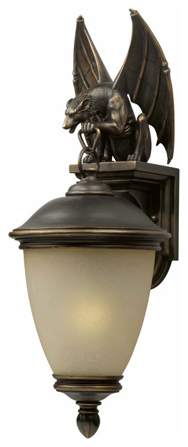 Triarch 75252-14 Gargoyle Oil Rubbed Bronze Outdoor Wall Sconce eclectic-outdoor-lighting