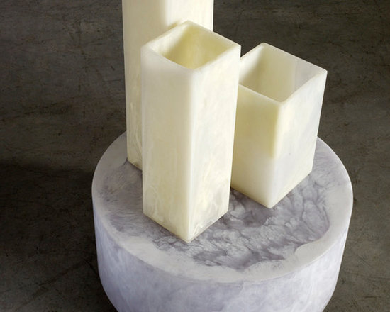 Martha Sturdy square resin vases in linen marble - Martha Sturdy square resin vases are popular among many. Simple in design and also practical. Available in multiple colours.