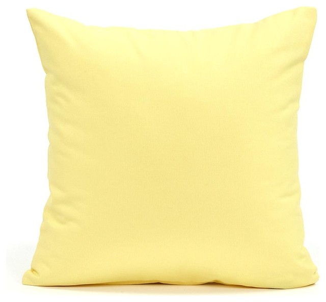Throw Pillow Yellow : Solid Yellow Accent / Throw Pillow Cover, 20