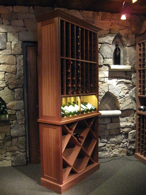 Kessick Wine Cellars- Freestanding wine storage furniture traditional wine racks