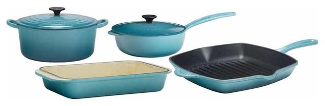 Le Creuset Signature 6-Piece Enameled Cast Iron Cookware Set traditional-cookware-sets