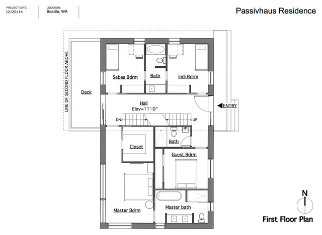 Passive house seattle floor plan Passive house plans