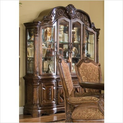 AICO Furniture - Windsor Court China Buffet in Vintage Fruitwood - 70005/70006 transitional-furniture