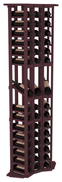 3 Column Display Cellar Corner in Pine, Burgundy contemporary-wine-racks