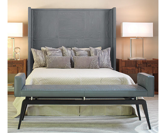 Faux Bois Grey Leather Headboard -