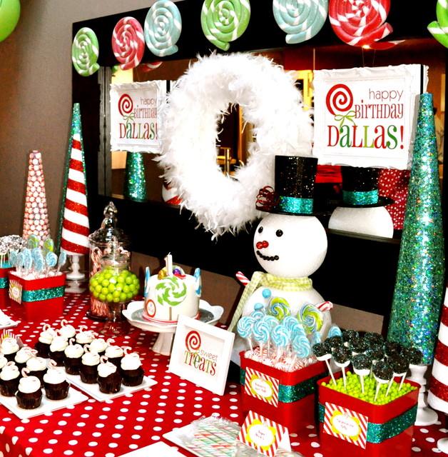 Candyland Winter Wonderland Birthday modern
