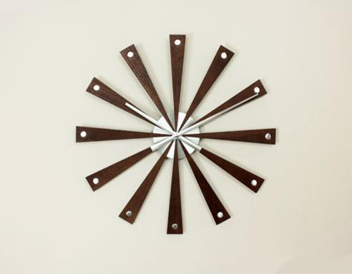 Modern Wood Wall Clock Contemporary Clocks By Bellacor