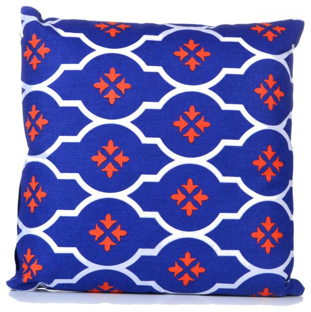 Concepts Life Decorative Pillow  Moorish Tile Blue  Medium contemporary-decorative-pillows