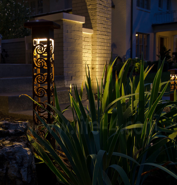 Http Www Houzz Com Photos 4825222 Decorative Steel Bollard Lights Modern Outdoor Lighting Indianapolis