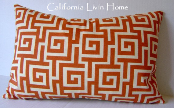 Greek Key Pillow Cover by California Livin Home traditional pillows