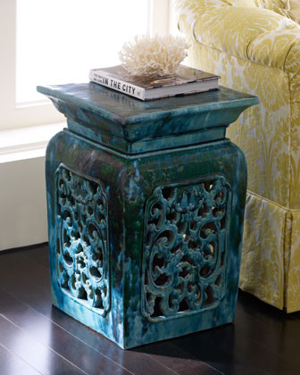 Vintage Garden Stool traditional-footstools-and-ottomans