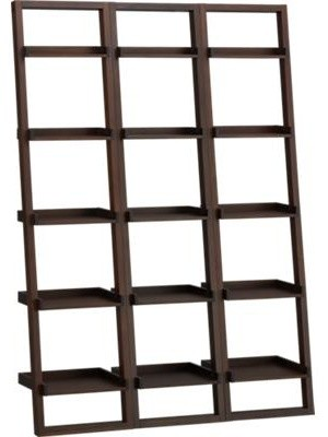 "Sloane Java 18"" Leaning Bookcase Set of Three contemporary-bookcases"