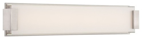 "WS-3226 Polar 26"" 50W LED Bath Light, Ws-3226-Bn modern-bathroom-vanity-lighting"