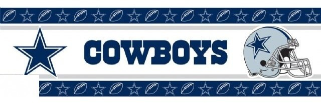 Dallas Cowboys Nfl Self Stick Wall Border Contemporary