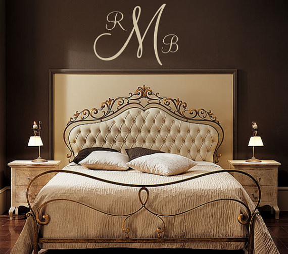 Personalized Monogram Initial Vinyl Wall Decal By five star signs contemporary-wall-decals