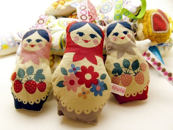 Russian Doll Matryoshka Lavender Bag eclectic home fragrance