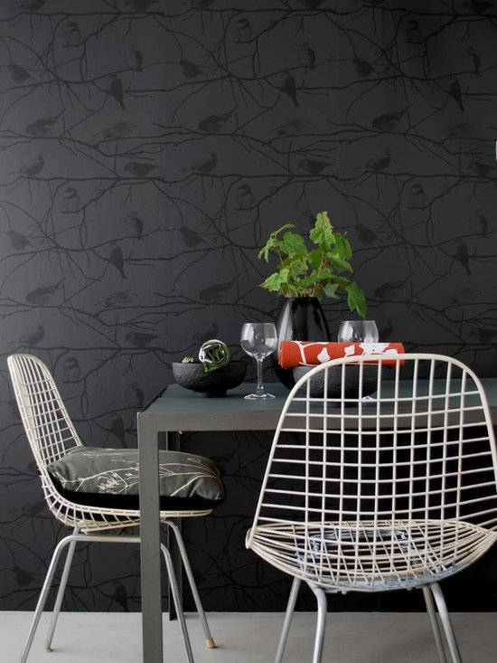 Ferm Living Birds on Branches Wallpaper - Ferm Living's Wallpaper is graphic & whimsical adding character, charm and personality to any room. Wallpaper has a striking effect and will without a doubt turn your room into a sanctuary.