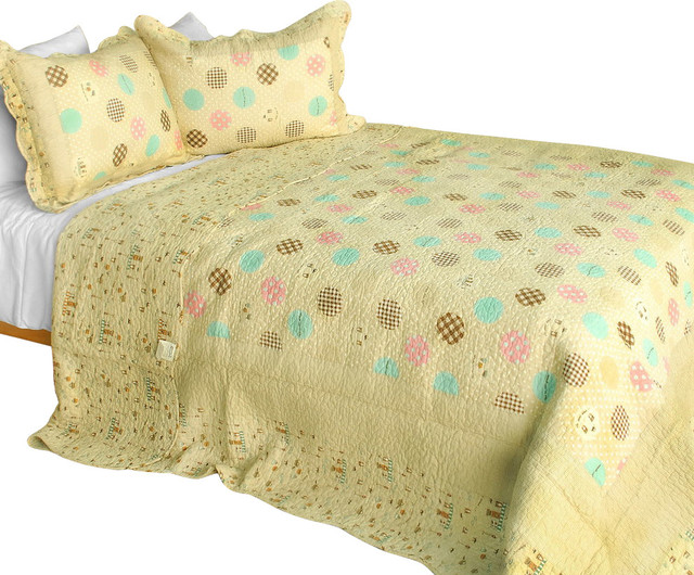[Corda] 3PC Cotton Contained Vermicelli-Quilted Patchwork Quilt Set Full/Queen traditional-quilts