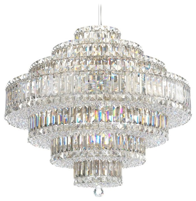 "Contemporary Schonbek Plaza Collection 27 1/2"" Crystal Pendant Chandelier contemporary-chandeliers"