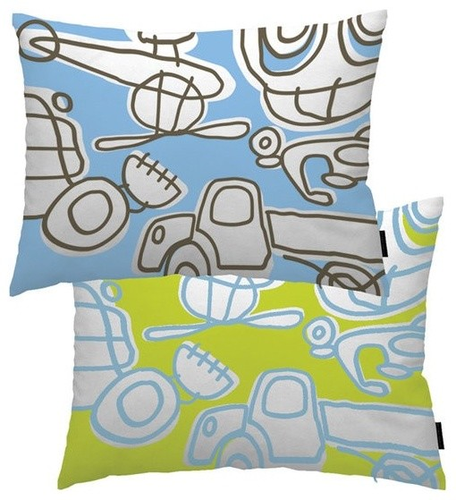 notNeutral Transport Throw Pillow - modern - kids bedding - by