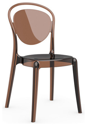 Parisienne Chair, Set of 2, Transparent Amber modern-dining-chairs