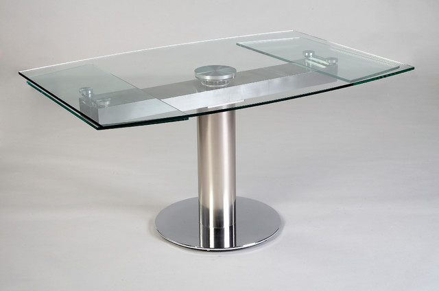 Expandable Glass Dining Table Contemporary Dining Tables