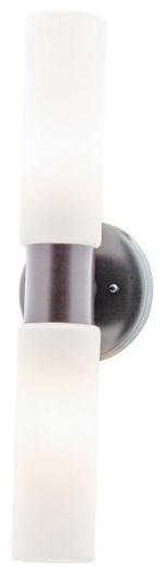 Access Lighting 20436-BS/OPL Two Light Steel Vanity bathroom-vanity-lighting