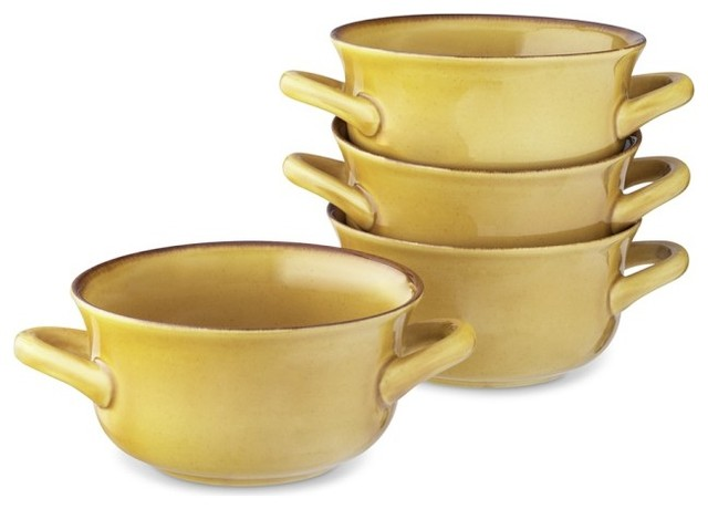 Farmhouse Double Handle Bowls Dijon Traditional Dining Bowls by Willia