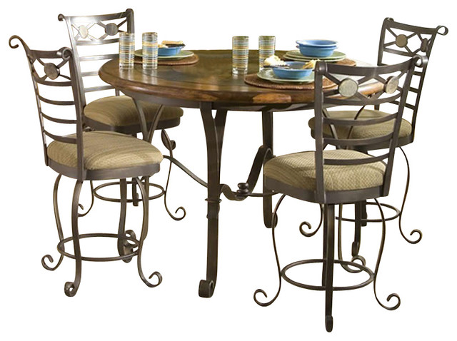 stone forge gathering height table transitional dining tables by