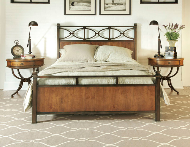 ... Drew 204-398 New River 6/6 Metal & Wood Bed-Domestic traditional-beds