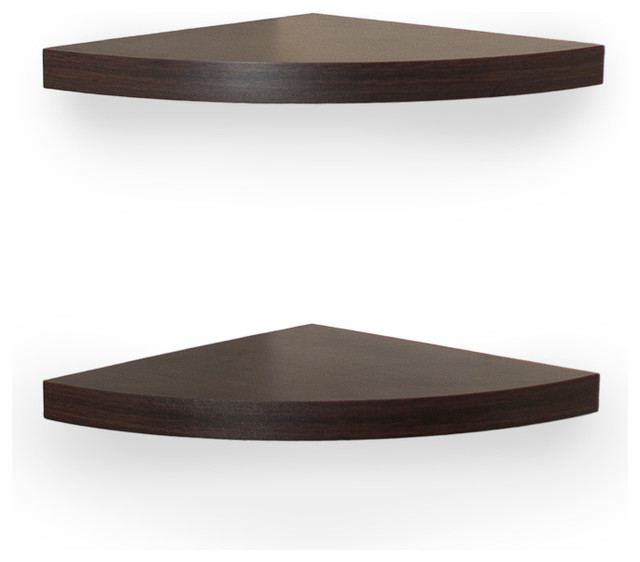 Veneer Corner Radial Shelves (Set of 2) contemporary-wall-shelves