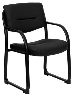 Flash Furniture Executive Side Chair with Sled Base - Black contemporary-office-chairs