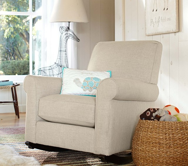 Charleston Upholstered Convertible Rocker Rocking Chairs