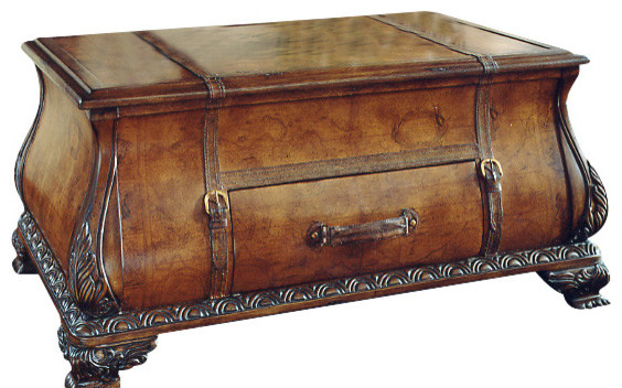 Old World Map Trunk Coffee Table Traditional Coffee Tables By Contemporary Furniture Warehouse