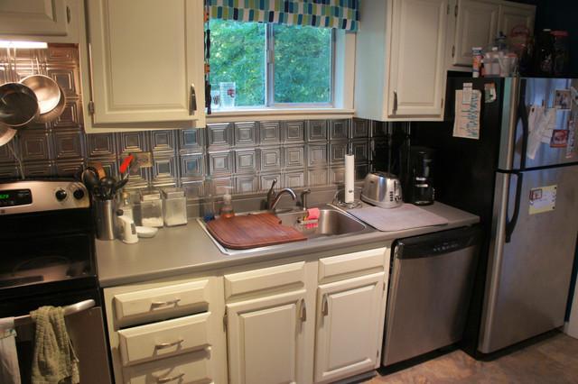 ... Tin Kitchen Backsplash Tin Backsplash Kitchen Backsplashes Midcentury  ...