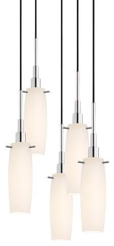 Sonneman | Candela 5 Light Tulip Pendant Light modern-pendant-lighting