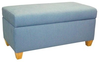 Skyline Upholstered Storage Bench modern-footstools-and-ottomans