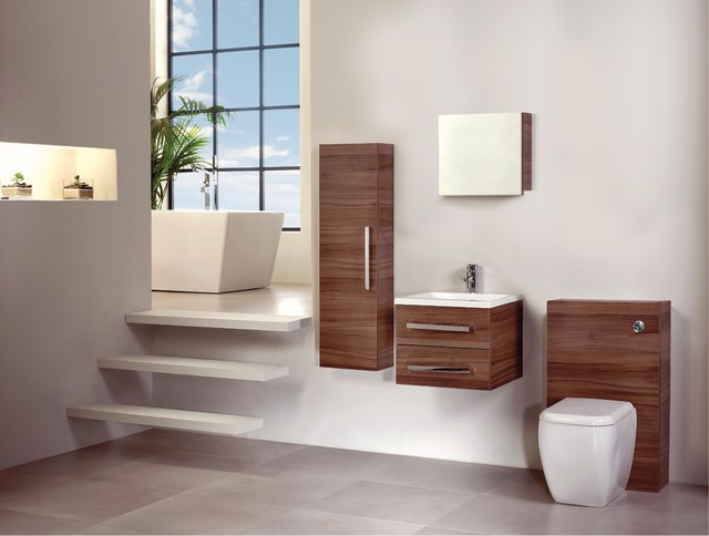 Walnut Bathroom Furniture Modern Bathroom Cabinets And