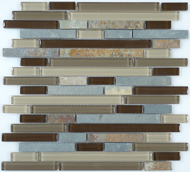 glass and slate modern wall and floor tile by glass tile oasis