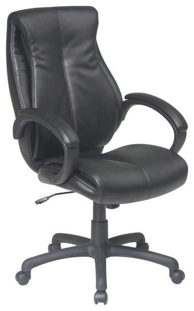 Deluxe High Back Leather Office Chair traditional-office-chairs