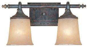 Austin  Vanity Light in Weathered Saddle modern-lighting