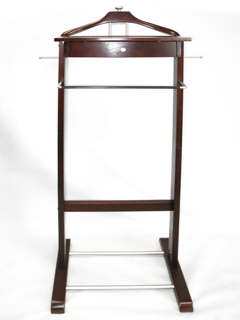 Proman Products Kingston III Dresser Valet in Dark Walnut traditional-clothing-valets-and-suit-stands