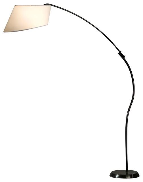contemporary nova black and white ibis arc floor lamp. Black Bedroom Furniture Sets. Home Design Ideas