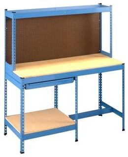 tennsco stur d bench with half width drawer modern