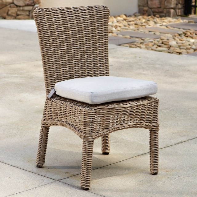 Anacara Pacifica All-Weather Wicker Side Chair Multicolor - 6504DW-SCH SUNBRELLA modern-patio-furniture-and-outdoor-furniture