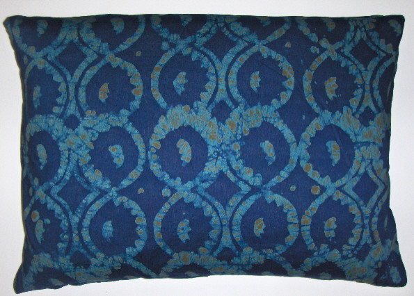 Cotton batik pillow cover using fabric from Ghana West Africa decorative-pillows