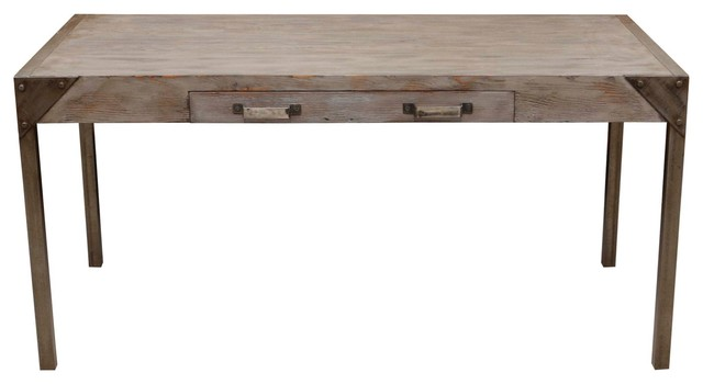 Urban Industrial Reclaimed Wood Desk Eclectic Desks
