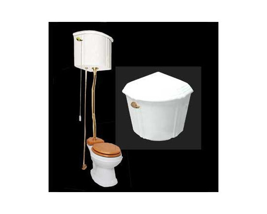 White China Ceramic H Tank Corner Toilet Z-pipe - Our stylish H tank corner toilet Z-pipe will lend your lavatory the charm & ambiance of the Victorian age. We've updated the materials and components with 21st century technology.